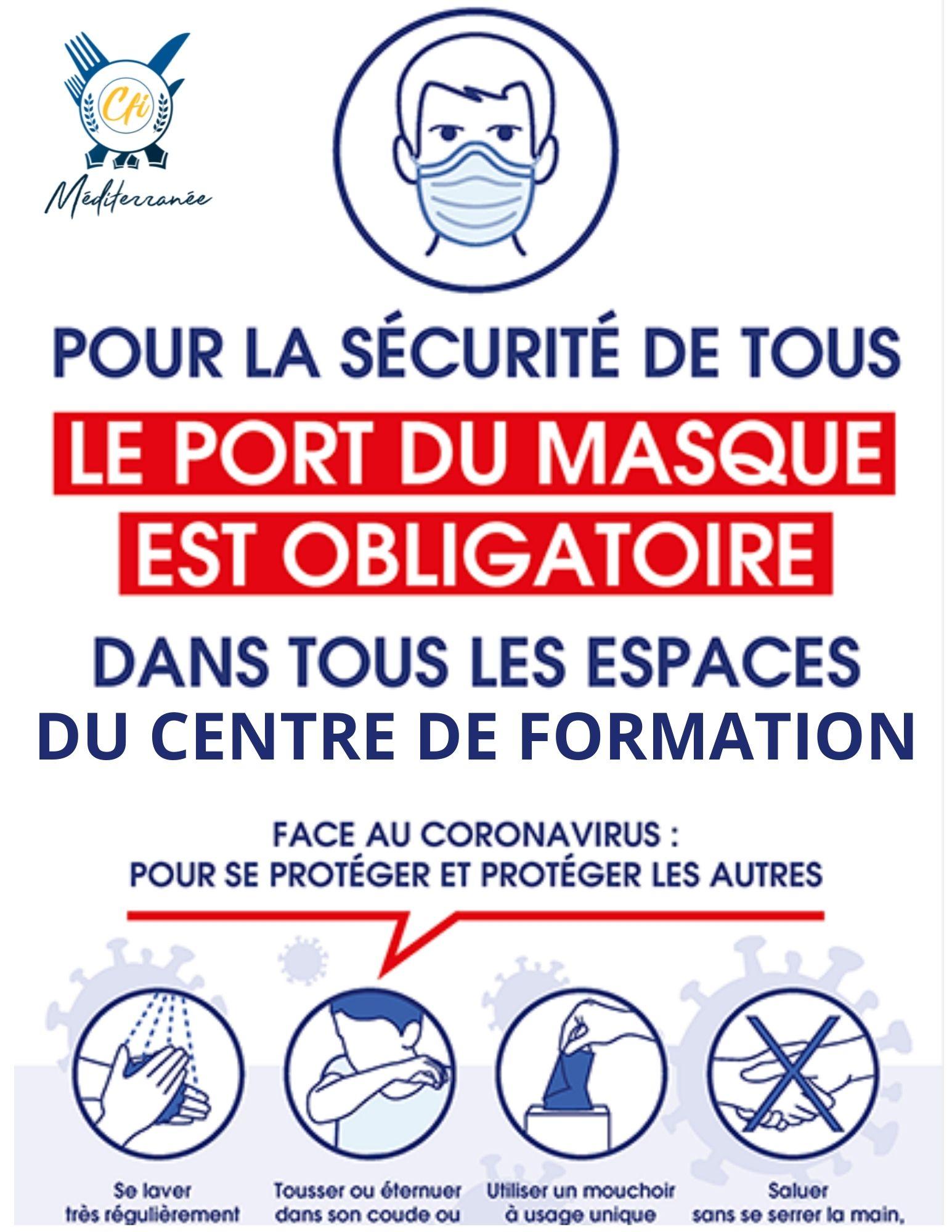 Consignes sanitaires applicables au CFI Méditerranée